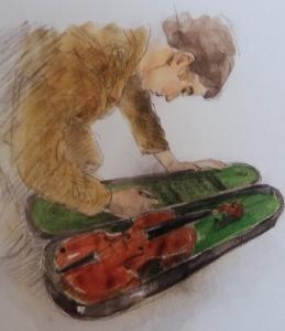 Alex & violin