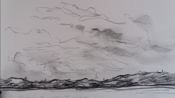 clouds charcoal