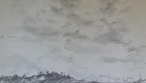 clouds pencil